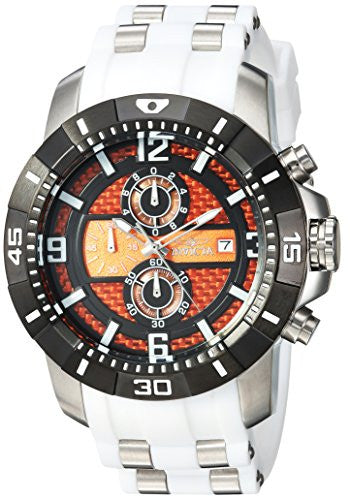 Invicta Men's 'Pro Diver' Quartz Stainless Steel Casual Watch, Color:White (Model: 24964)
