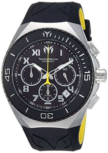 Technomarine Men's 'Manta' Quartz Stainless Steel and Silicone Casual Watch, Color:Two Tone (Model: TM-215068)