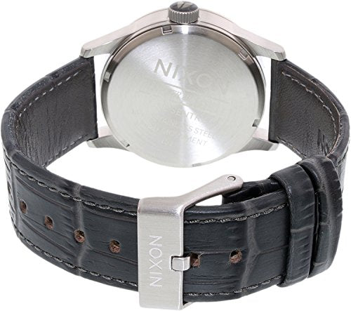 Nixon A105-2145 Mens Sentry Grey Gator Leather Watch