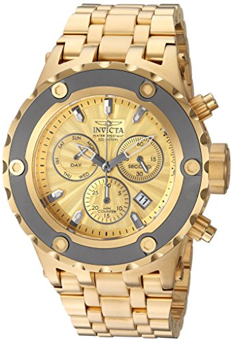 Invicta Men's 'Subaqua' Quartz Stainless Steel Casual Watch, Color:Gold-Toned (Model: 23922)