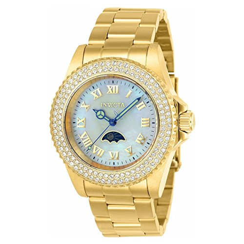 Invicta Women's 'Sea Base' Quartz and Stainless-Steel Casual Watch, Color:Gold-Toned (Model: 23830)