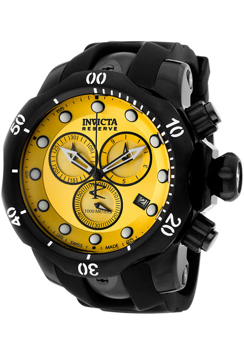 INVICTA 5736 Men's Venom/Reserve Chronograph Yellow Dial Black Polyurethane