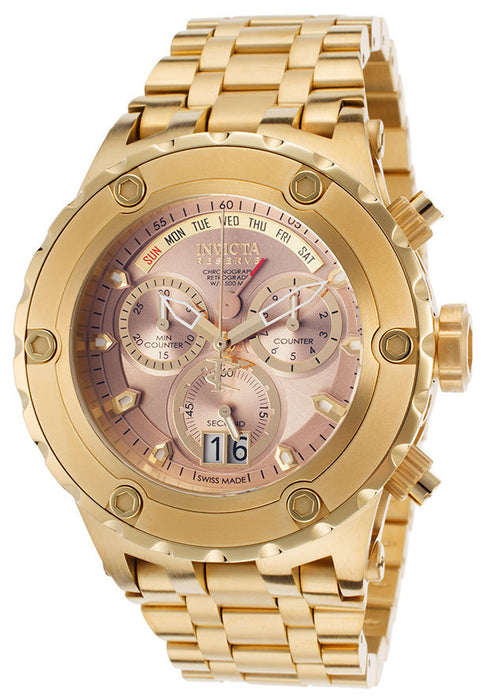 Invicta Mens Reserve Specialty Subaqua Swiss Chronograph Day & Date 18k Gold Plated Watch 16885