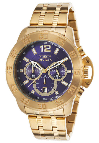 Invicta Men's 17447 Specialty Analog Display Japanese Quartz Gold Wat