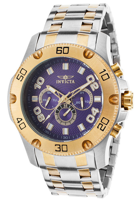 Invicta 19231 Men's Pro Diver Multi-Function Two-Tone Stainless Steel Blue