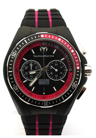 TechnoMarine 110016 women's Cruise Sport Black Pink Watch
