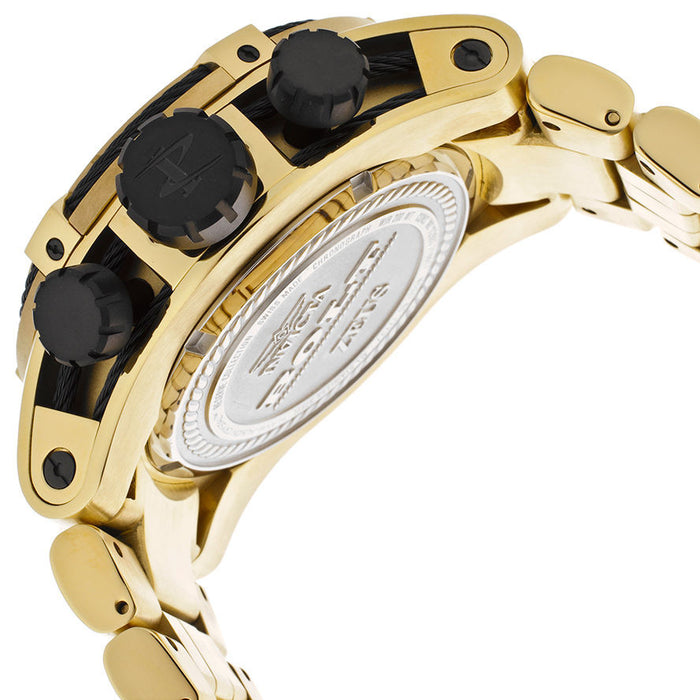 Invicta 12737 Reserve 52mm Bolt Zeus Swiss Made Quartz Chronograph Gold IP
