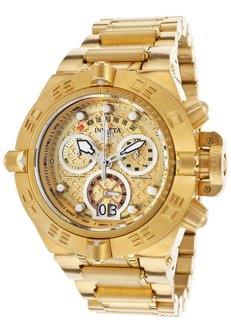 Invicta 17606 Men's Subaqua Chrono 18k Gold Plated Stainless Steel Gold-tone