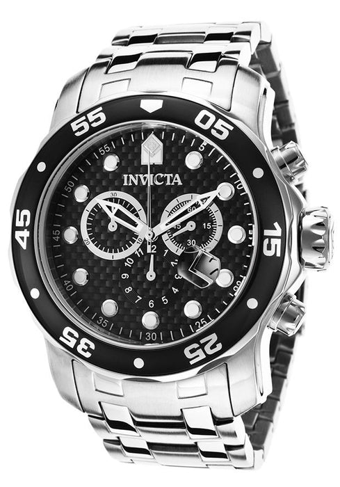 Invicta Men's 17082 Pro Diver Analog Display Swiss Quartz Silver Watch
