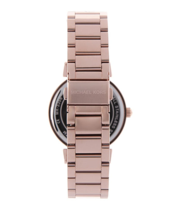 Michael Kors Caitlin Black / Rose Gold Stainless Steel Analog Quartz Watch MK3339