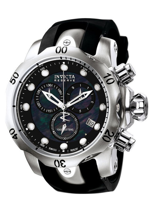 INVICTA 6117 Men's Venom Reserve Chrono Black Polyurethane and MOP Dial