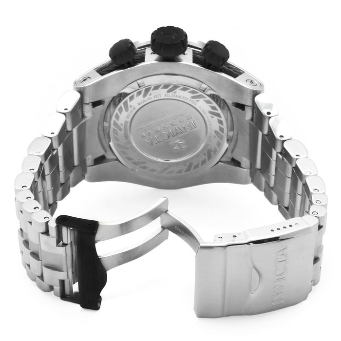 Invicta 0821 Men's Reserve Chronograph Black Mother of Pearl Dial Stainless Steel Watch