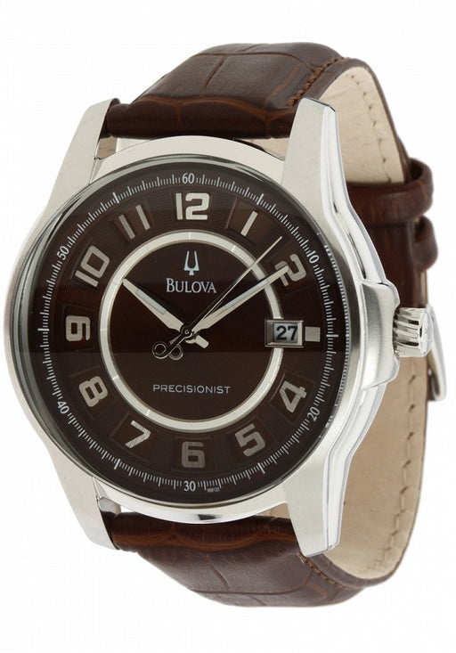 Bulova Men's 96B128 Precisionist Claremont Brown Leather Watch