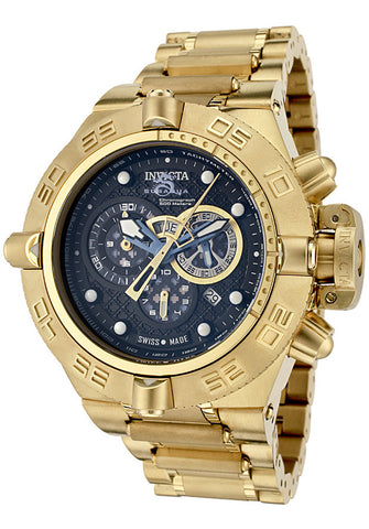 Invicta 6554 Men's Subaqua/Noma IV Chronograph 18k Gold Plated Stainless Steel