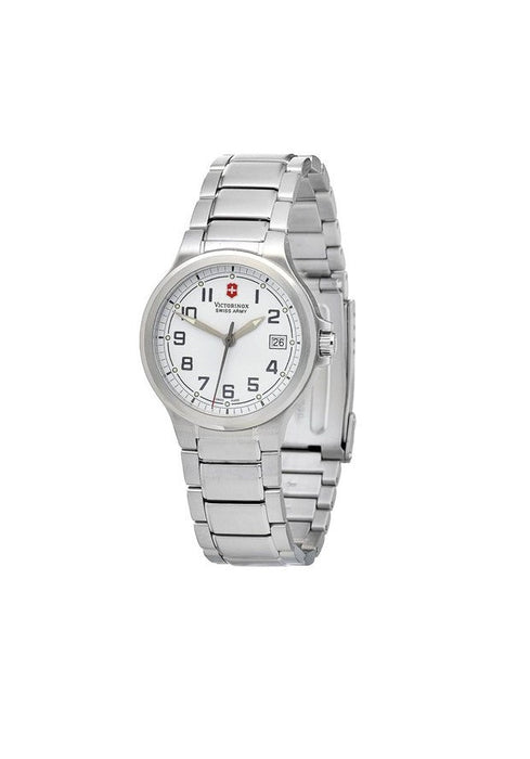 Victorinox Swiss Army Peak II Small White Dial Stainless Steel Women's Watch