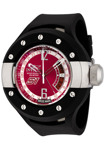 Invicta Men's 6843 S1 Collection GMT Chili Pepper Red Dial Polyurethane Watch