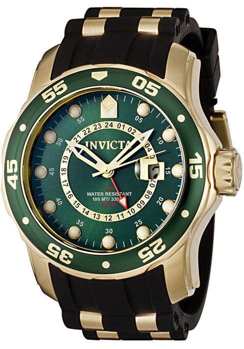 Men's Pro Diver GMT Black Polyurethane