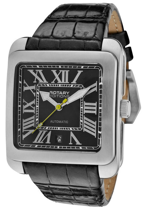Rotary 700C Men's Editions Automatic Black Leather