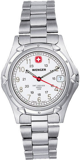 Wenger Men's 70109 Standard Issue White Dial Steel Bracelet Watch