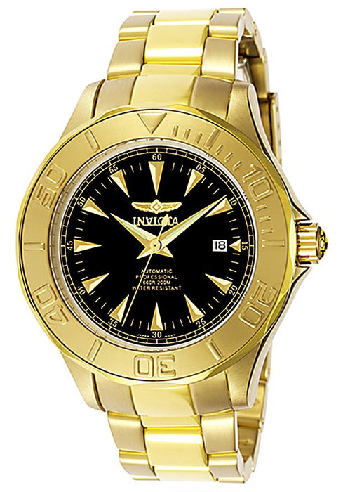 Men's Signature Automatic 23k Yellow Gold Plated