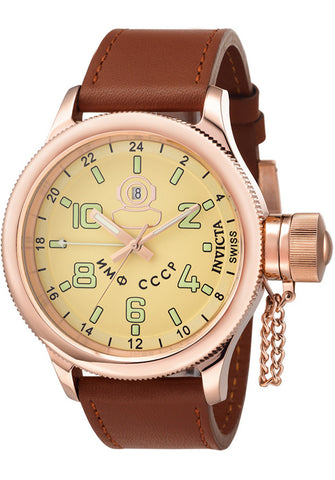 Invicta Men's 7108 Signature Collection Russian Diver 18k Rose Gold-Plated GMT Watch