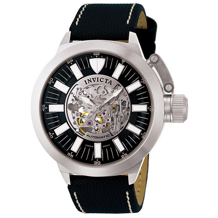 Men's Signature Automatic Black Fabric