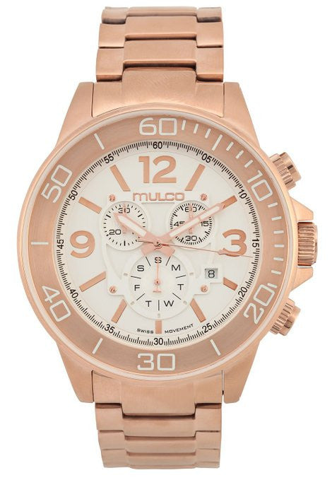MULCO Unisex MW4-90147-331 Analog Display Swiss Quartz Rose Gold Watch