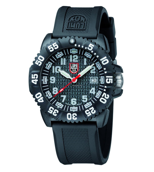 Luminox Ggl.l3051.25th Mens 25th Anniversary Navy Seal Colormark Polycarbonate Black Dial Black Watch