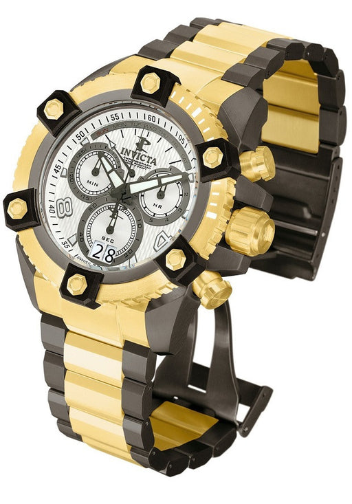 Invicta 12982 Arsenal Reserve Gold Plated Gunmetal Stainless Steel Men's Watch