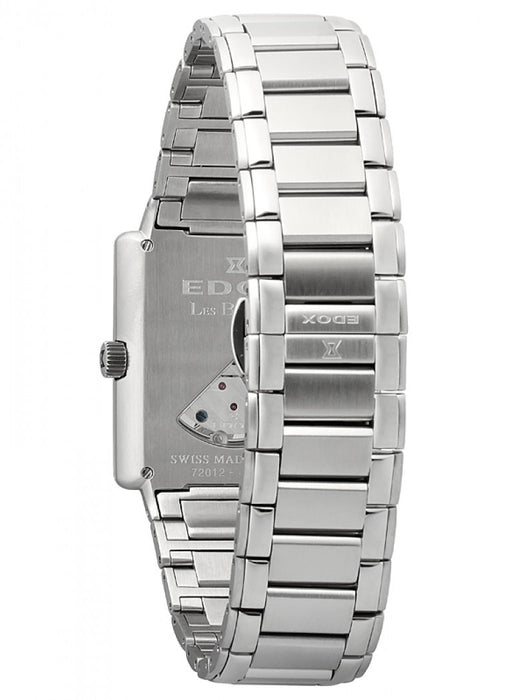 Edox Men's 72012 3 AIN Les Bemonts Hand Winding White Dial Watch