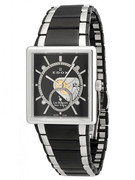 Edox Men's 72012 357N NIN Les Bemonts Hand Winding Stainless Steel Watch