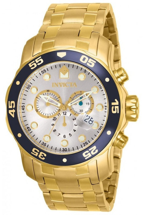 Invicta Men's 80067 Pro Diver Analog Display Swiss Quartz Gold Watch