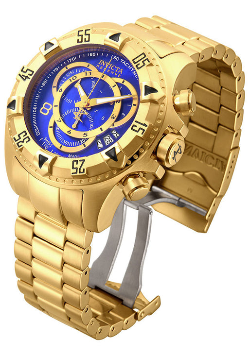 Men's Excursion Reserve Chrono 18K Gold Plated Steel Blue MOP Dial