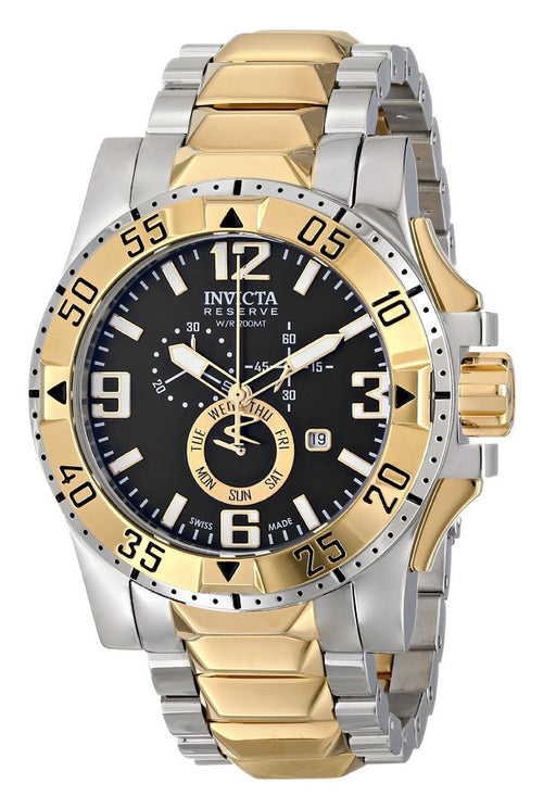 Invicta 15332 Men's Excursion Reserve Two-Tone Steel Chrono Black Dial