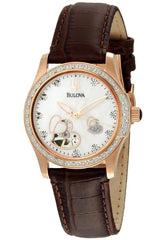 Bulova Women's 98R139 Automatic Diamond Mother-Of-Pearl Dial Watch