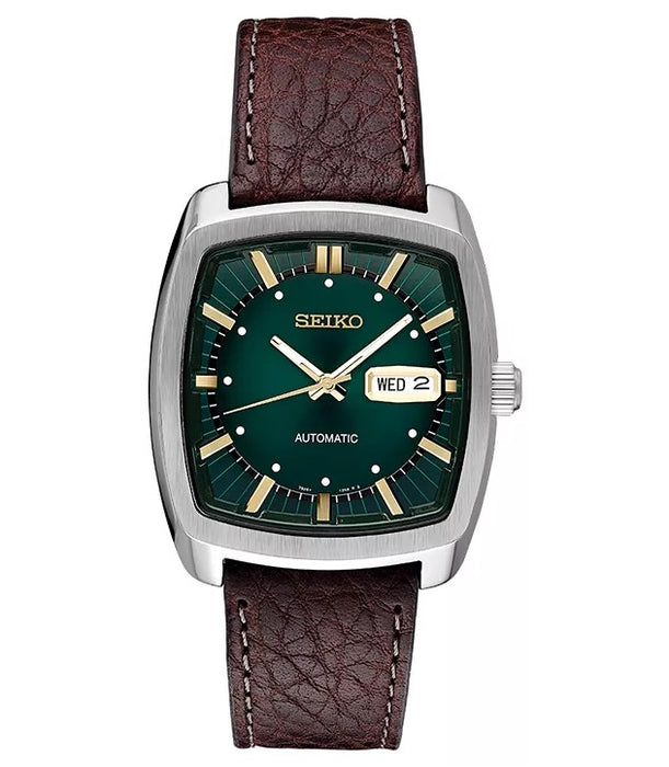 Seiko Men's Recraft Series Automatic Leather Casual Watch (Model: SNKP27)