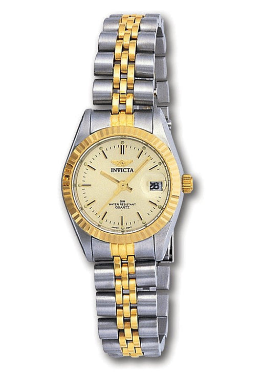 Women's Invicta II Two Tone 18kt Yellow Gold Plated Stainless Steel