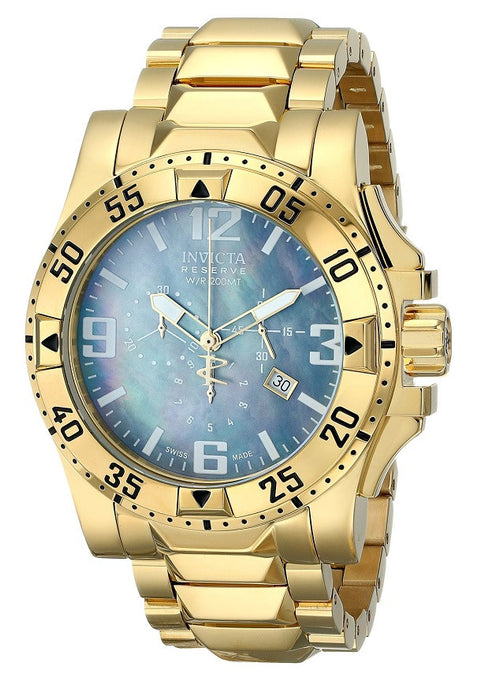 Invicta 6256 Watches,Men's Reserve Chronograph 18k Gold Plated Stainless Steel