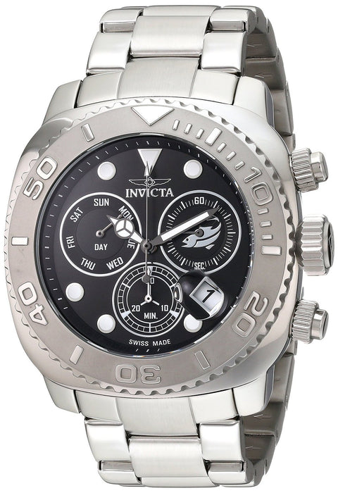 Invicta 14645 Men's Pro Diver Chronograph Black Dial Stainless Steel