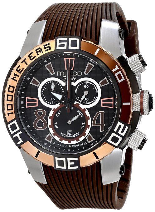 MULCO Unisex MW1-74197-035 Analog Display Swiss Quartz Brown Watch