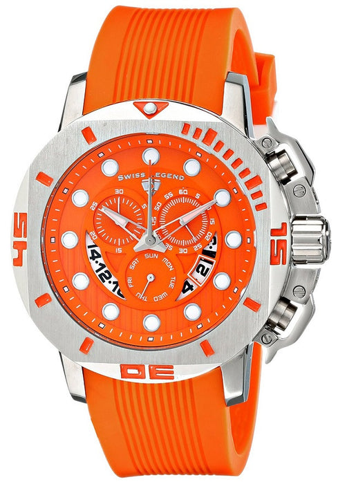 Swiss Legend Men's 10538S-06 Scubador Analog Display Swiss Quartz Orange Watch