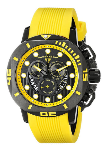 Swiss Legend Men's 10538S-BB-01-YAS Scubador Analog Display Swiss Quartz Yellow Watch