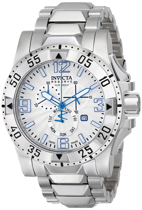 Invicta 15300 Men's Excursion Reserve Stainless Steel Chronograph Silver Dial