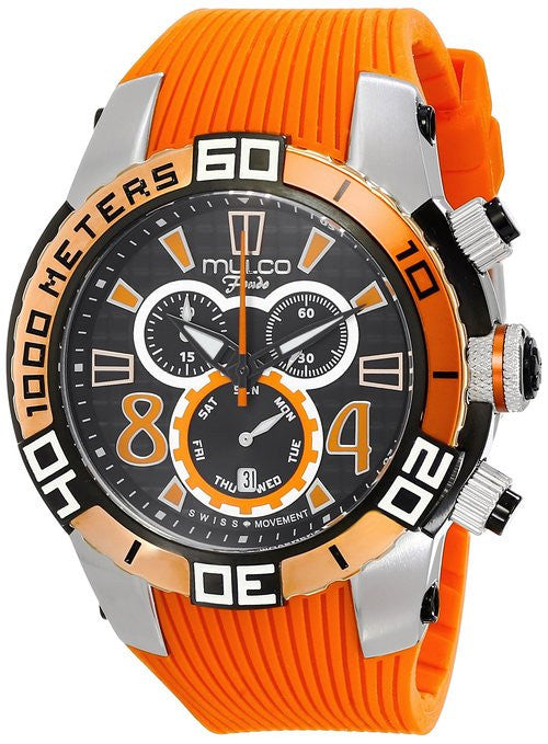 MULCO Unisex MW1-74197-615 Analog Display Swiss Quartz Orange Watch