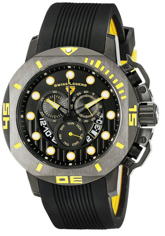 Swiss Legend Men's 10538S-BB-01-YA Scubador Analog Display Swiss Quartz Black Watch