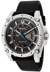 Bulova Men's 96B132 Precisionist Champlain Charcoal Dial Black Strap Watch