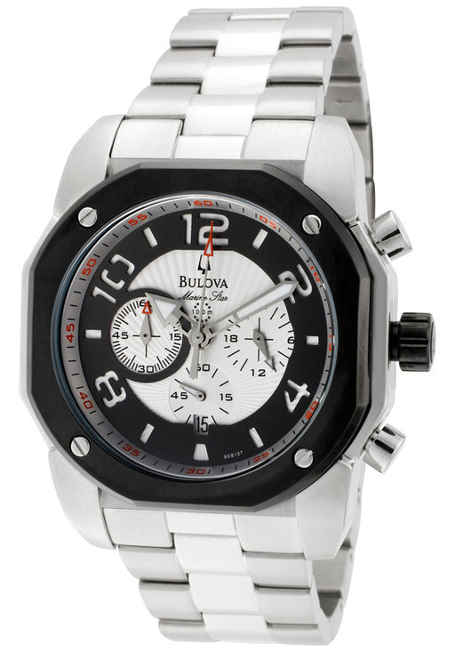 Bulova Men's 98B137 Marine Star Silver White Dial Watch