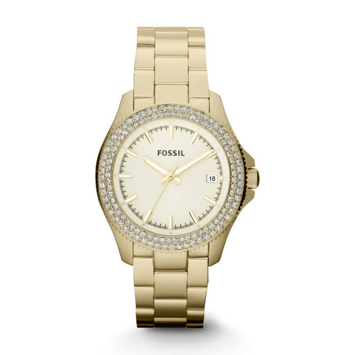 Fossil AM4453 Ladies RETRO TRAVELLER Gold Watch