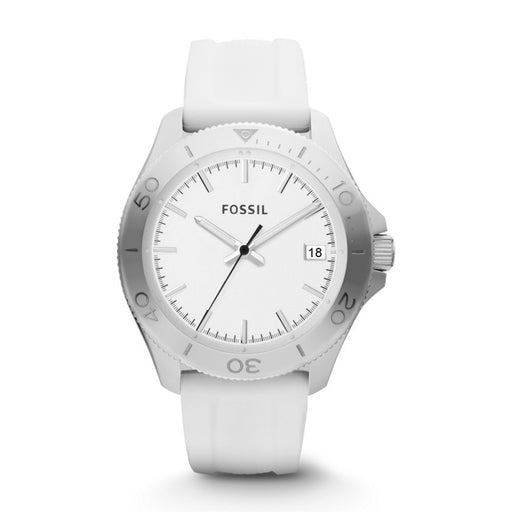 Fossil Men's AM4471 Retro Traveler White Silicone Watch