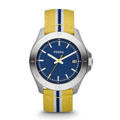 Fossil Retro Traveler Three Hand Nylon Watch - Yellow Am4477